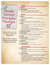 Health literacy principles